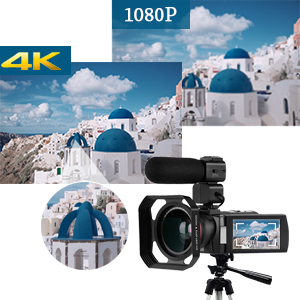 Videocámara Cámara de Video 4k, ORDRO HD 1080P 60FPS Vlog Camera ...