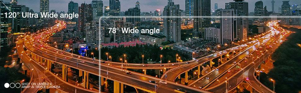 120° Ultra Wide Angle