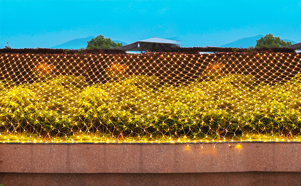 Warm White Net Lights Brighten Your Mood and Made Your Life Colorful