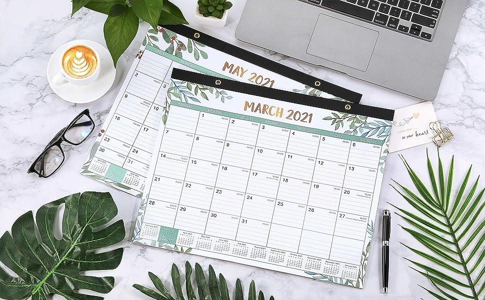 Amazon.com : 2021 Desk Calendar - Yearly Desk/Wall ...