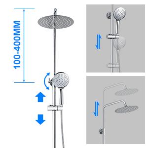BONADE Columna de Ducha Termostática 38 °C con Grifo para Bañera ...