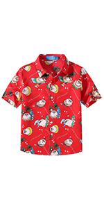 SSLR Camisa Hawaiana Tropical Estampado Navideño Papá Noel 3D ...