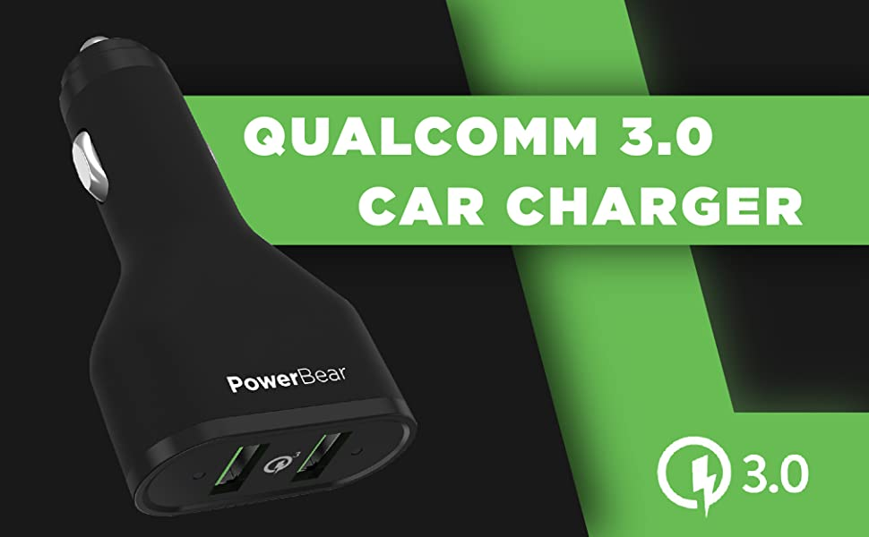 PowerBear Car Charger 3.0 Qualcomm