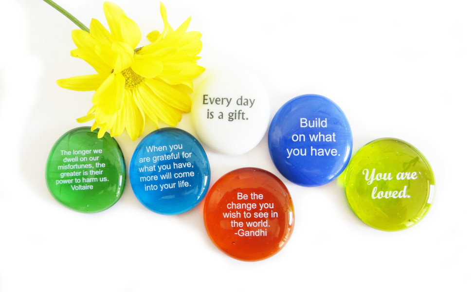 encouragement, motivation, inspirational, lifeforce glass, glass stones, gift for friend, gift