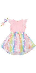 Girls Flutter Sleeve Dress for Photoshoot