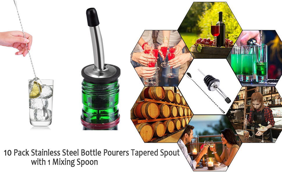 Wine Liquor Bottle Pourers