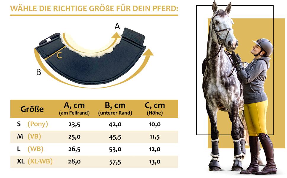 RIDERS CHOICE 2er Set Hufglocken 1680 Denier versch Farben Pony, VB, WB