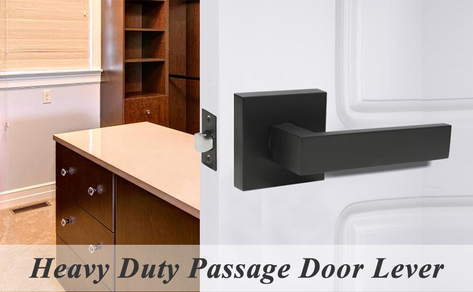 square passage lever