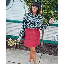 women fashion animal print top blouse