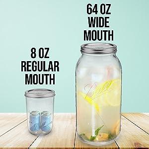 8oz regular mouth mason jars