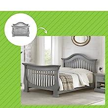 Davenport Crib in Moon Gray
