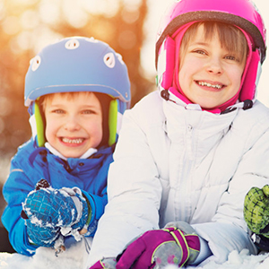 kids girls winter snow boots waterproof warm