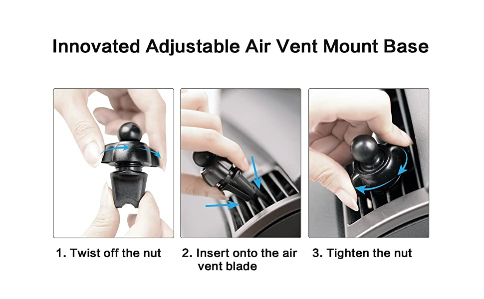 air vent magnetic phone car mount