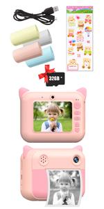Kids Print Instant Camera (pink)