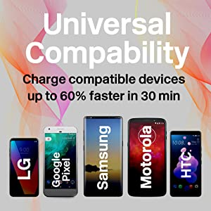 Truwire Adaptive Fast Charger Set for Samsung Note 10, Note 10+, Galaxy S10, S10 Plus, S10e, S9, S9 Plus, S8, S8 Plus, Note 9, Google Pixel 3, Quick ...