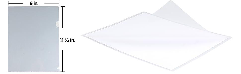 clear plastic sleeve