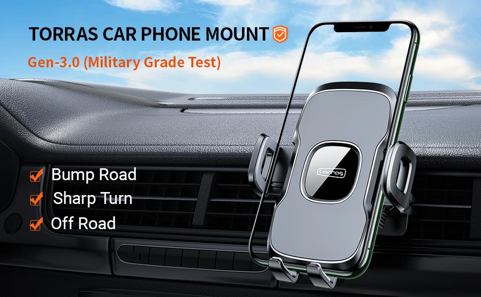 TORRAS Anti-crack Air Vent car phone holder for iPhone 11 Pro Max XS Samsung Galaxy S20 Plus