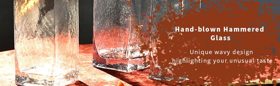hammered glass vases