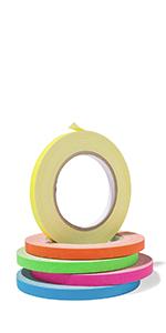 modulor zelfklevende tape gaffa gaffer duct tape markering tape gekleurde neon 25m 19mm 50mm set