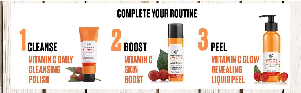 Vitamin C, bodyshop, cream, gel, orange, polish, peel