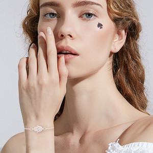 Juego de 5 pulseras de plata para mujer