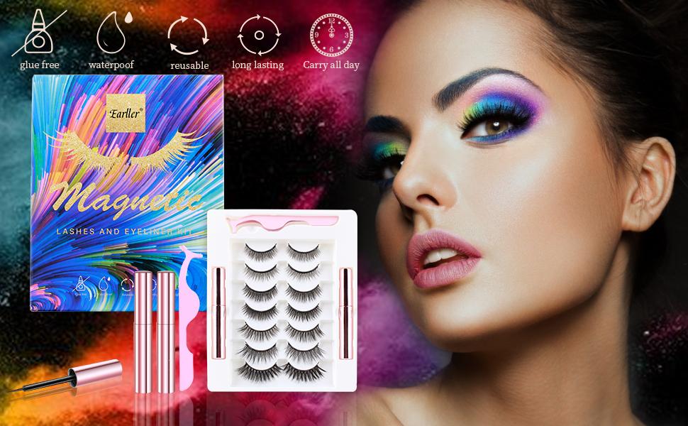 Reusable Magnetic Eyelashes With Eyeliner Kit