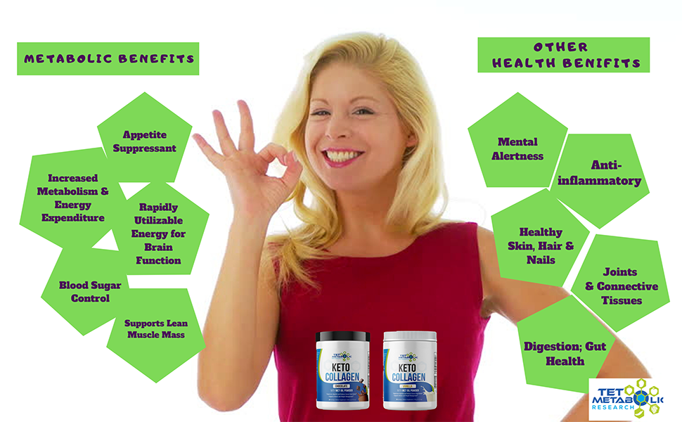 METABOLIC AND OTHER HEALTH BENEFITS OF KETO MCT COLLAGEN PROTEIN PEPTIDES