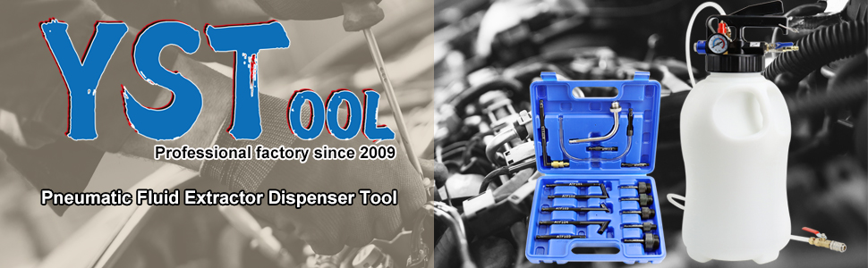 YSTOOL 10L Pneumatic Fluid Extractor Dispenser Set ATF Refill Tool Kit