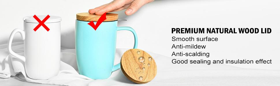 premium natural wood lid