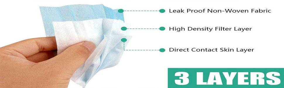 3ply Disposabl Nonwoven Fabric Face Mask With Nose Clip