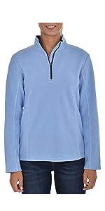 Swiss Alps Womens Quarter Zip Performance Polar Fleece Pullover Sweatshirt