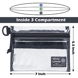 water resistant waterproof clear bag pouch for tsa divisional travel essential accessories fanny fan