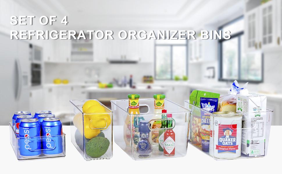fridge organizer bins