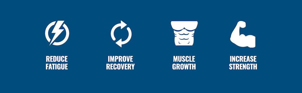 Reduce Fatigue, Improve Recovery, Muscle Growth, and Increase Strength