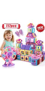 117PCS Castle Magnetic Blocks