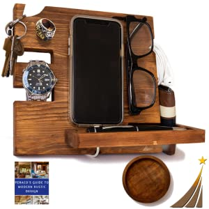 Docking Station for Men and Wooden Docking Station
