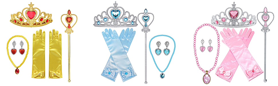 Princess Dress Up Accessories Gloves