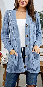 cable knit sweater cardigans for women