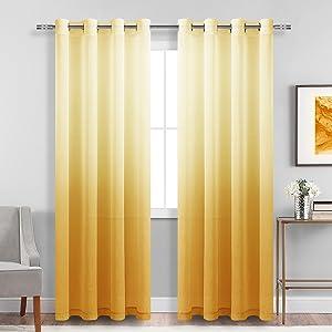 gradient sheer curtains