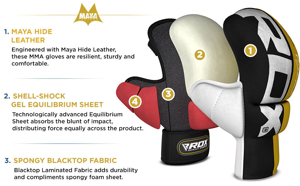 MMA Gloves for Martial Arts Training & Grappling, Sparring
