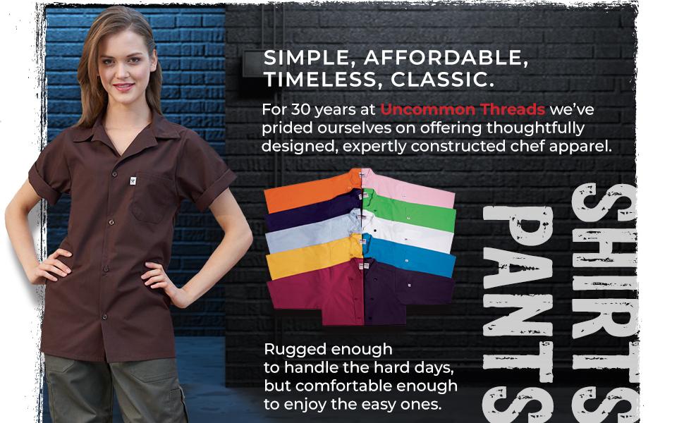 server shirt utility colors affordable classic restaurant dish washer server coat jacket waiter hat