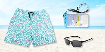 mens flamingo swim trunks,mens polarized sunglasses,mobile waterproof bag
