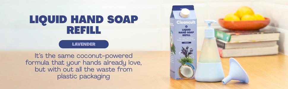 lavender liquid hand soap refill jabon
