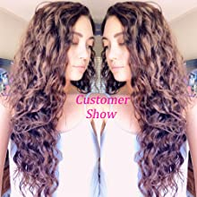 Synthetic deep wave clip in hair
