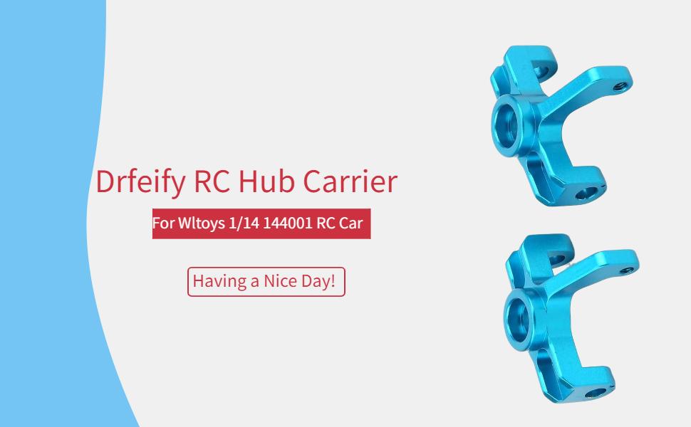2pcs Metal Left//Right C Hub Carrier for Wltoys 144001 1//14 RC Model Car Vehicles