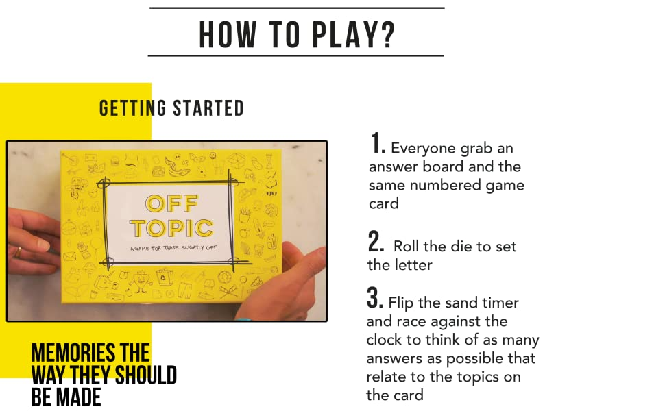 OFF TOPIC GAME HOW TO PLAY