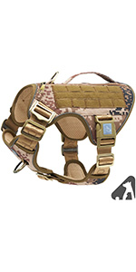 dog harness with backpack