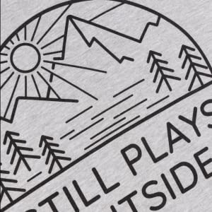still plays outside screen printed vintage style heather grey men's t-shirt