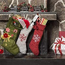 Vism Tactical Military Holiday Christmas Stocking with MOLLE Webbing Red