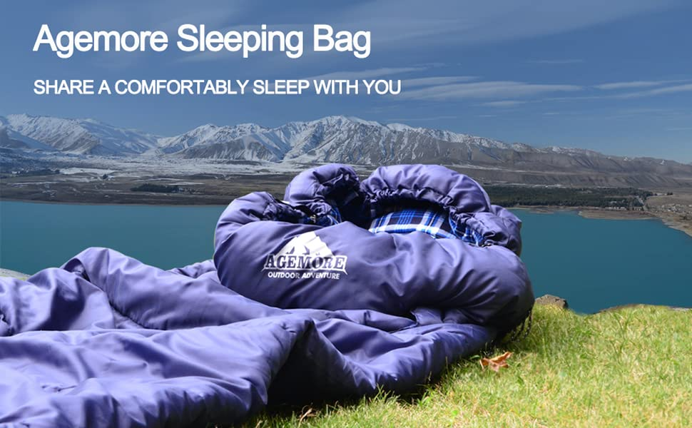 Cotton sleeping bag for adults and teens